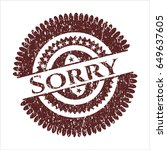 red sorry distress grunge seal   Shutterstock .eps vector #649637605