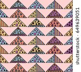 seamless vector pattern.... | Shutterstock .eps vector #649639051