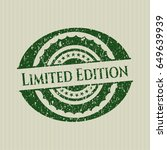 green limited edition grunge...   Shutterstock .eps vector #649639939