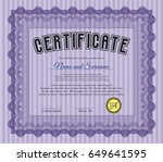 violet diploma template. vector ...