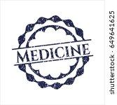 blue medicine rubber grunge...   Shutterstock .eps vector #649641625