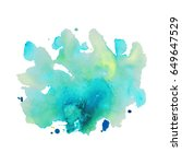 abstract hand drawn watercolor...   Shutterstock .eps vector #649647529