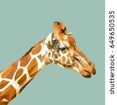 giraffe low poly design.... | Shutterstock .eps vector #649650535