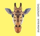 giraffe low poly design....   Shutterstock .eps vector #649650541