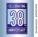 38 years anniversary design... | Shutterstock .eps vector #649651441