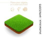 square isometric lawn with a... | Shutterstock .eps vector #649652095