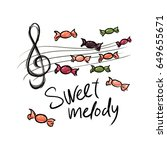 logo for the shop of sweets and ... | Shutterstock .eps vector #649655671