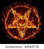 satanic fire pentagram   Shutterstock . vector #64965778