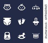 set of 9 kid icons set...   Shutterstock .eps vector #649660465
