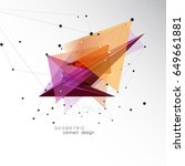 triangle abstract shape. design ... | Shutterstock .eps vector #649661881