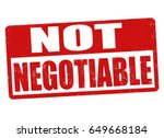 not negotiable sign or stamp on ... | Shutterstock .eps vector #649668184