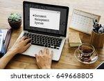 document management system... | Shutterstock . vector #649668805