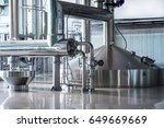 tanks for beer storage. modern... | Shutterstock . vector #649669669