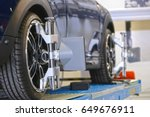 target of the car wheel angle... | Shutterstock . vector #649676911