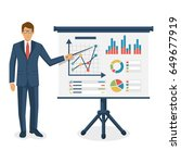 financial consultant concept.... | Shutterstock .eps vector #649677919