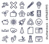 concept icons set. set of 25... | Shutterstock .eps vector #649685995