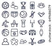 team icons set. set of 25 team... | Shutterstock .eps vector #649686079