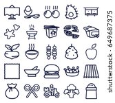 food icons set. set of 25 food... | Shutterstock .eps vector #649687375