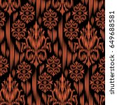 ikat ogee and damascus ornament ... | Shutterstock .eps vector #649688581