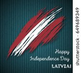latvia independence day... | Shutterstock .eps vector #649689349