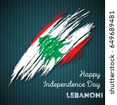 lebanon independence day... | Shutterstock .eps vector #649689481