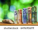 five  ten  twenty  fifty and... | Shutterstock . vector #649690699