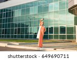 arabian muslim woman taking... | Shutterstock . vector #649690711