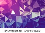 abstract low poly background ... | Shutterstock . vector #649694689