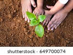 soil planting and seeding... | Shutterstock . vector #649700074