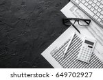 taxes accounting in office work ... | Shutterstock . vector #649702927