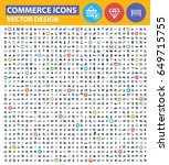 commerce icon set clean vector | Shutterstock .eps vector #649715755