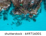 aerial view of rock formations... | Shutterstock . vector #649716001