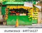 Street Stall Selling Fruit In...