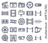 cinema icons set. set of 25... | Shutterstock .eps vector #649716781