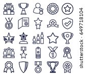 award icons set. set of 25...   Shutterstock .eps vector #649718104