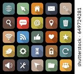 website flat icons with long... | Shutterstock .eps vector #649724281