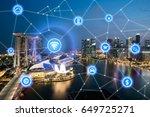 smart city and wireless... | Shutterstock . vector #649725271