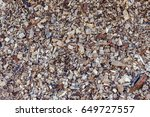 bark used as floor covering | Shutterstock . vector #649727557