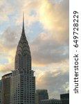 chrysler building at sunset... | Shutterstock . vector #649728229