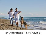 happy young family in white... | Shutterstock . vector #64973251