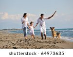 happy young family in white... | Shutterstock . vector #64973635