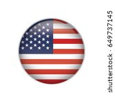 united states flag button | Shutterstock .eps vector #649737145