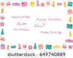 gift box background | Shutterstock .eps vector #649740889