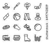 rubber icons set. set of 16... | Shutterstock .eps vector #649742809