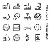 smoke icons set. set of 16... | Shutterstock .eps vector #649745569