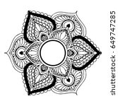 mandalas for coloring book.... | Shutterstock .eps vector #649747285