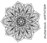 mandalas for coloring book.... | Shutterstock .eps vector #649747309