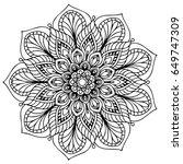 mandalas for coloring book.... | Shutterstock .eps vector #649747309