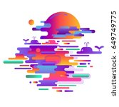 modern style abstraction with... | Shutterstock .eps vector #649749775