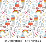 Cute Abstract Doodle Seamless...